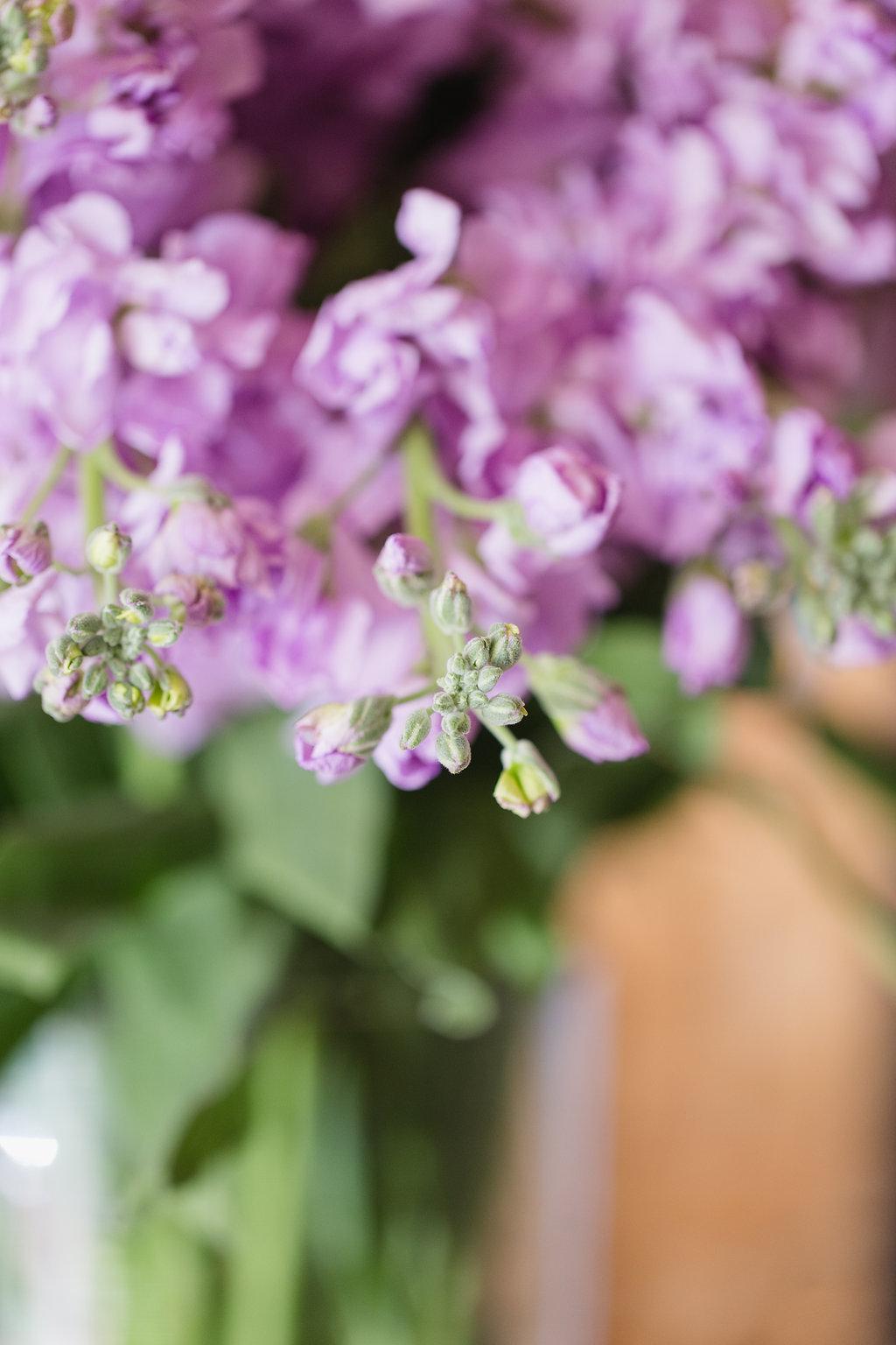 Light Purple Stock - Wedding Flower Ideas
