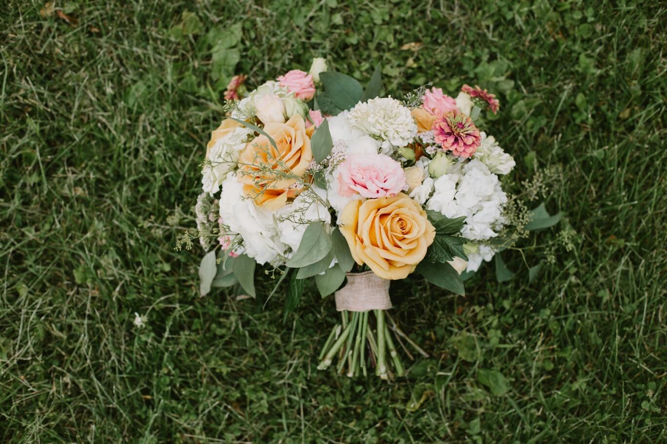 Summer Wedding Bouquet - Stone House Creative