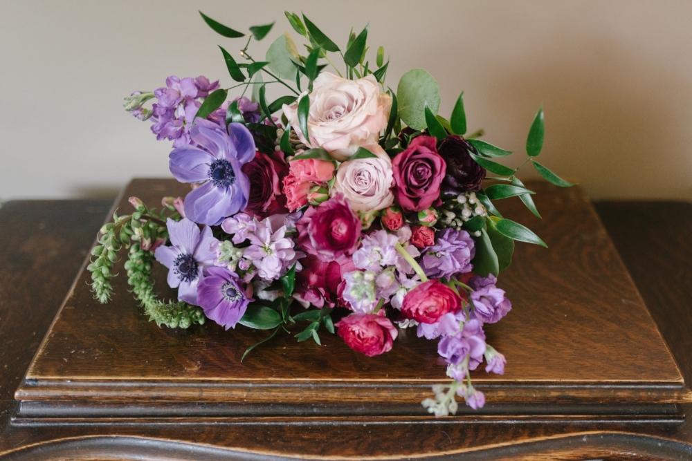 Berry Tone Bridal Bouquet - Wedding Florists Winnipeg