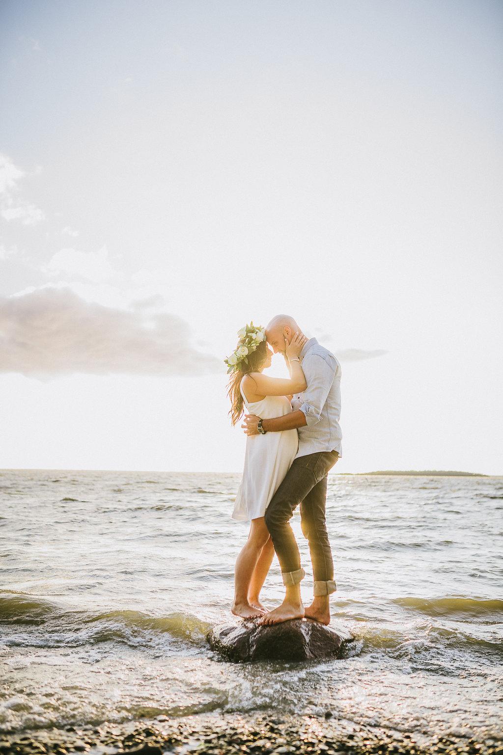 Beach Engagement Photos - Winnipeg Weddings