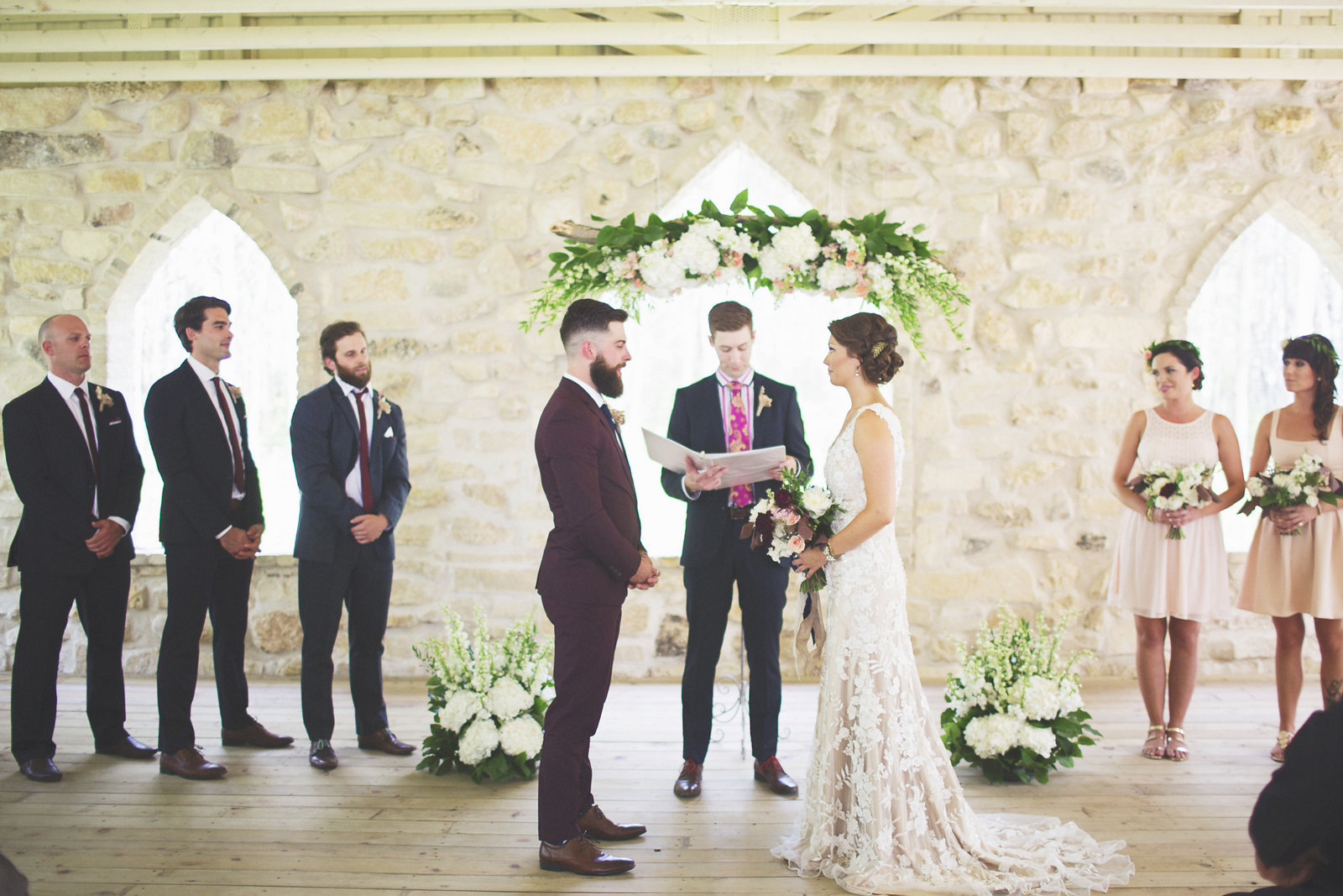 Photo by  Simply Rosie Photography  / Loved bringing a garden feel indoors here.
