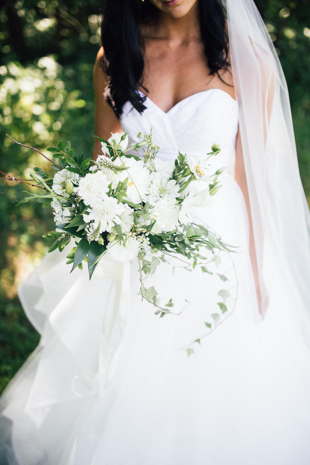 White Summer Wedding Bouquet - Wedding Flowers Winnipeg