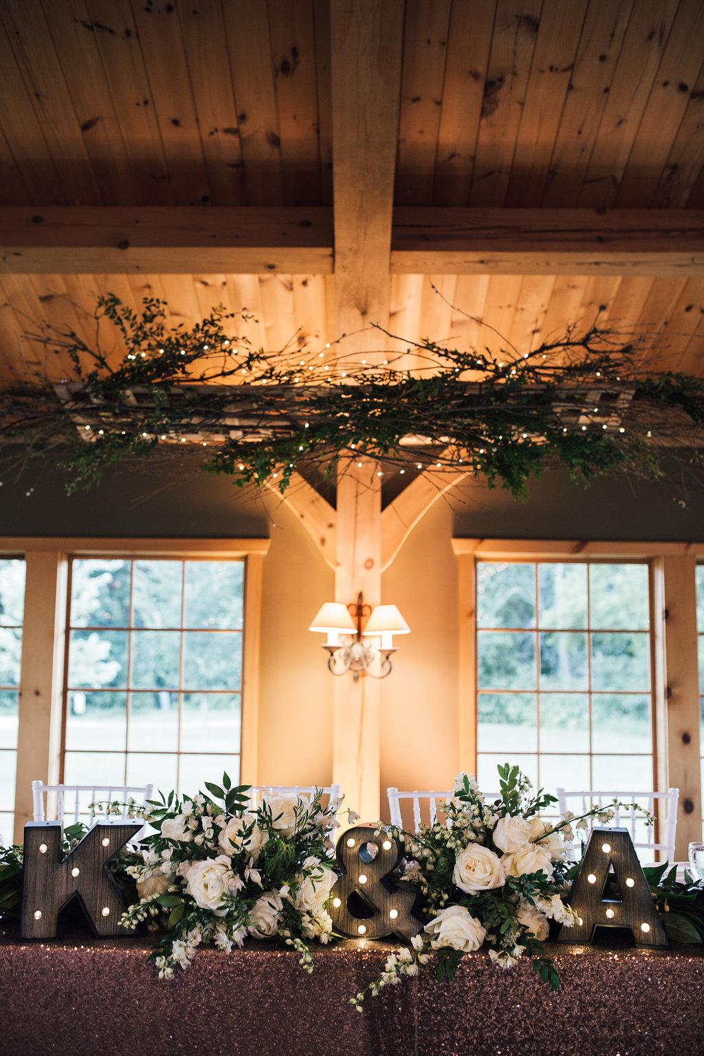 Head Table Wedding Decor - Wedding Florists Winnipeg