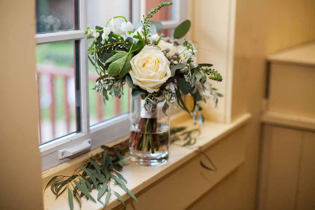 Organic White Wedding Bouquet - Winnipeg Wedding Florists