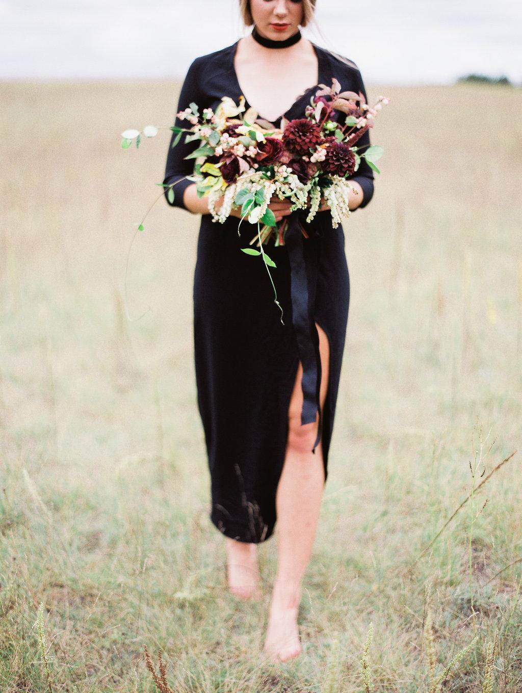 Fall Wedding Bouquet with Dahlias - Stone House Creative