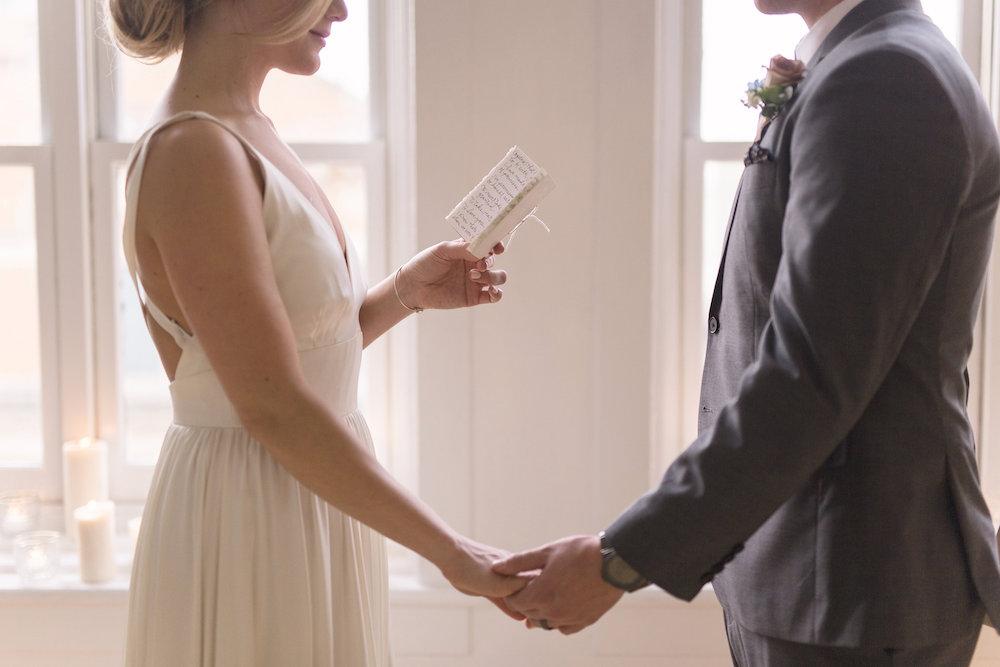 Wedding Vow Booklets - Winnipeg Wedding Designer