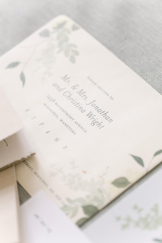 Floral Wedding Invitations - Winnipeg Event Designer