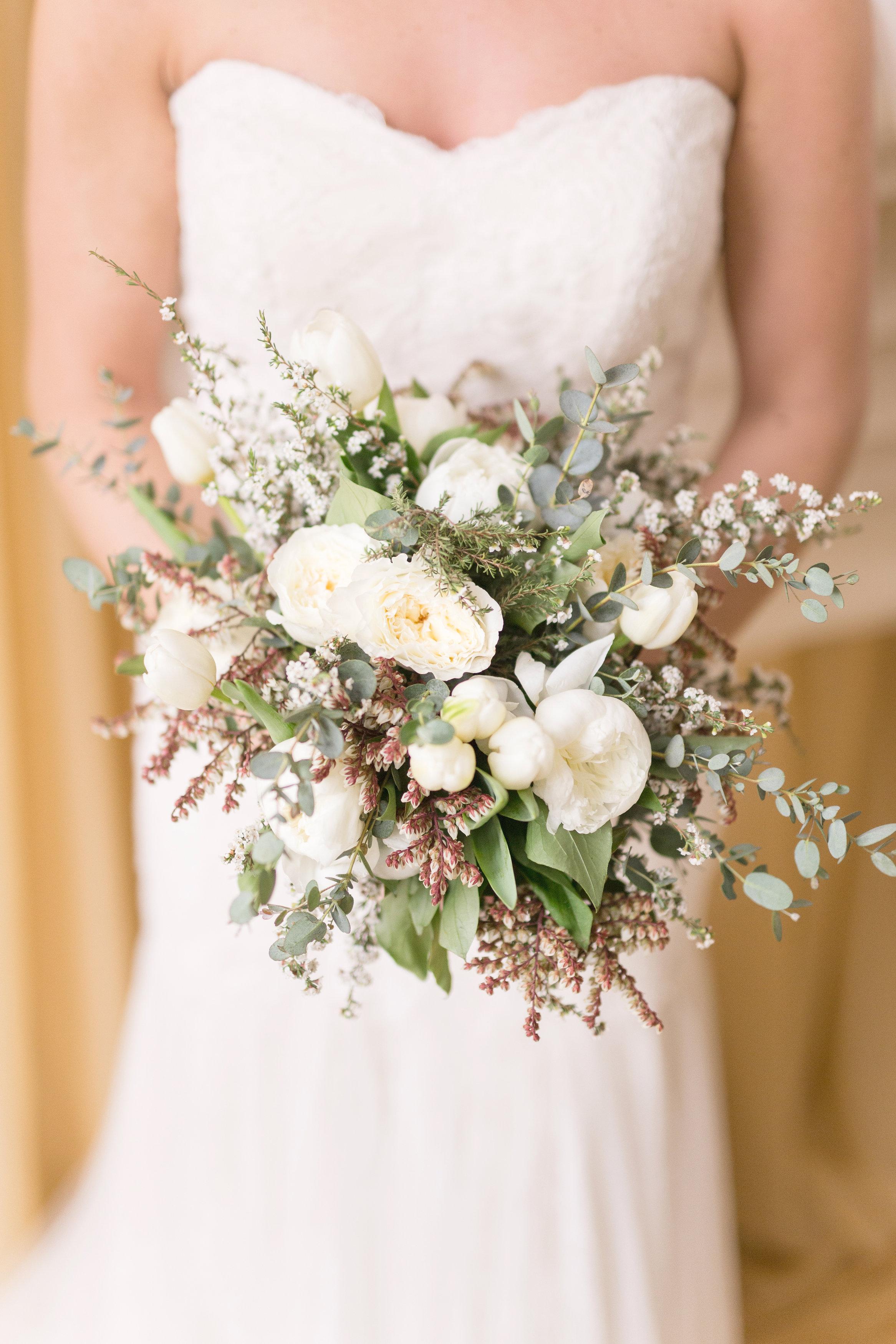 Textured White Bridal Bouquet - Winnipeg Wedding Florist