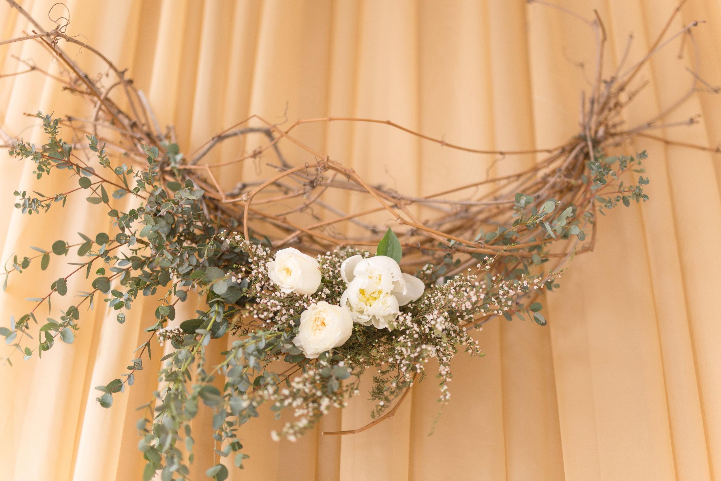 Wedding Ceremony Wreath - Stone House Creative