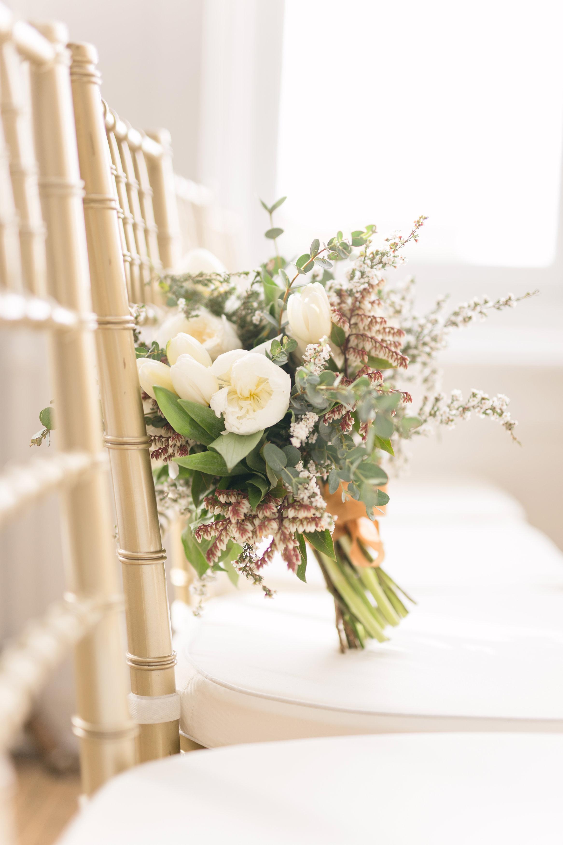 White Tulip Wedding Bouquet - Wedding Flowers Winnipeg