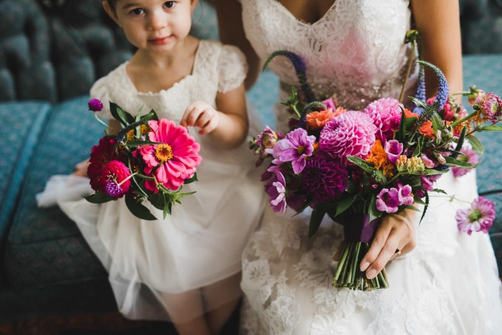 Purple and Pink Wedding Flowers - Winnipeg Weddings
