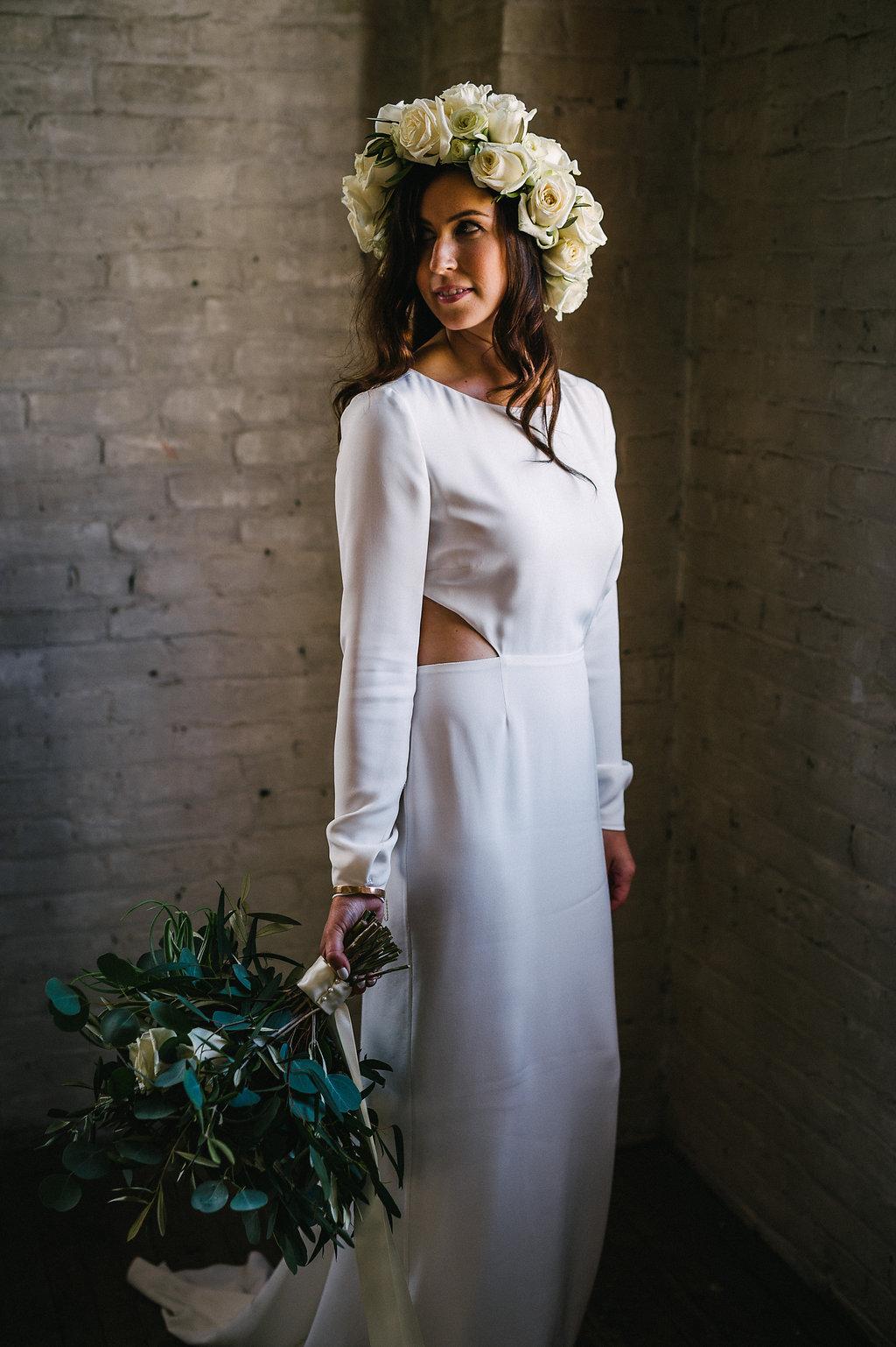 White Flower Crown - Winnipeg Wedding Florists