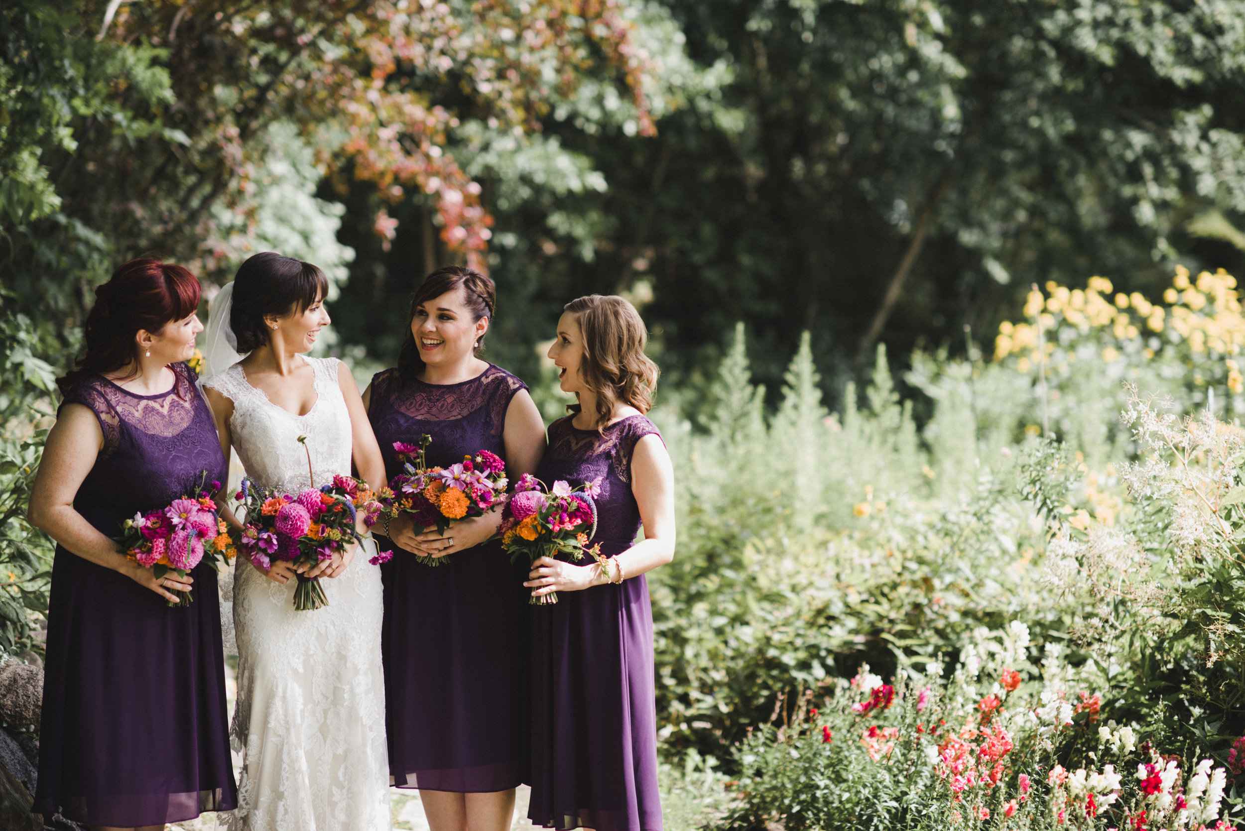 Purple Bridesmaid Dress - Colourful Wedding Ideas
