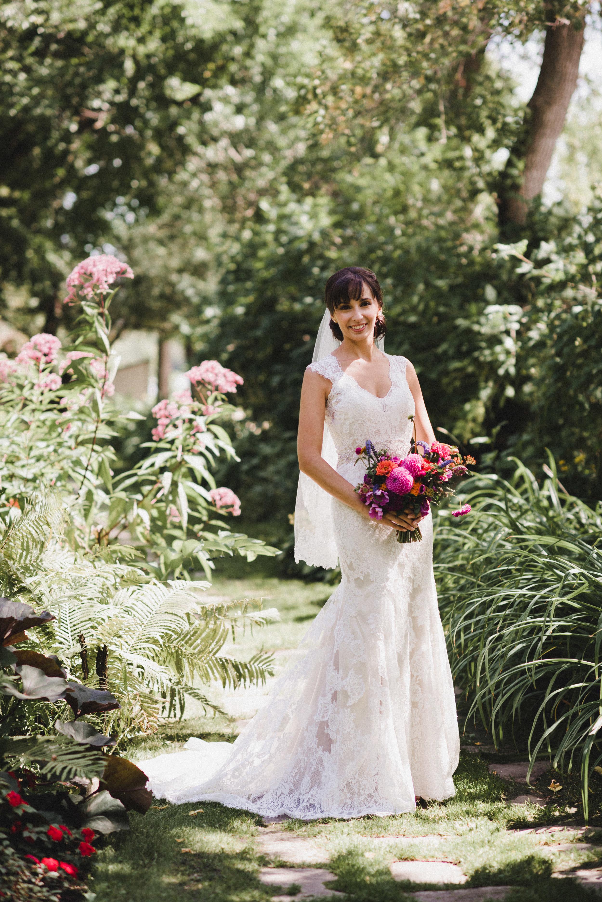Purple Bridal Bouquet - Winnipeg Wedding Florists