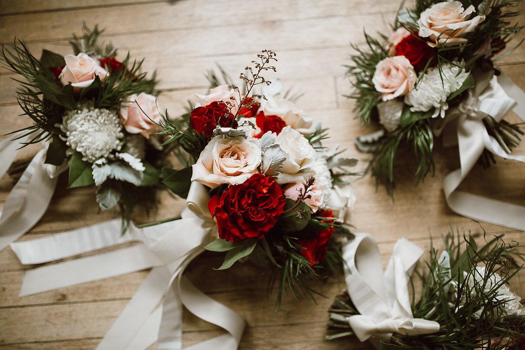Hearts Rose Bridal Bouquet - Wedding Flowers Winnipeg