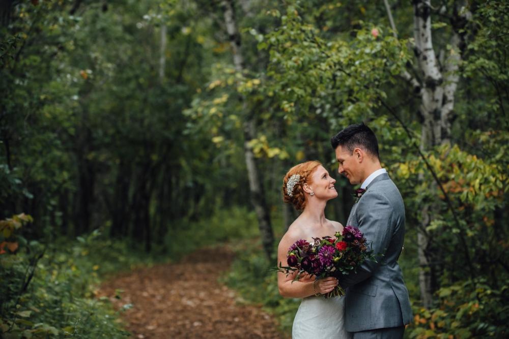 Purple and Burgundy Wedding Bouquet - Stone House Creative