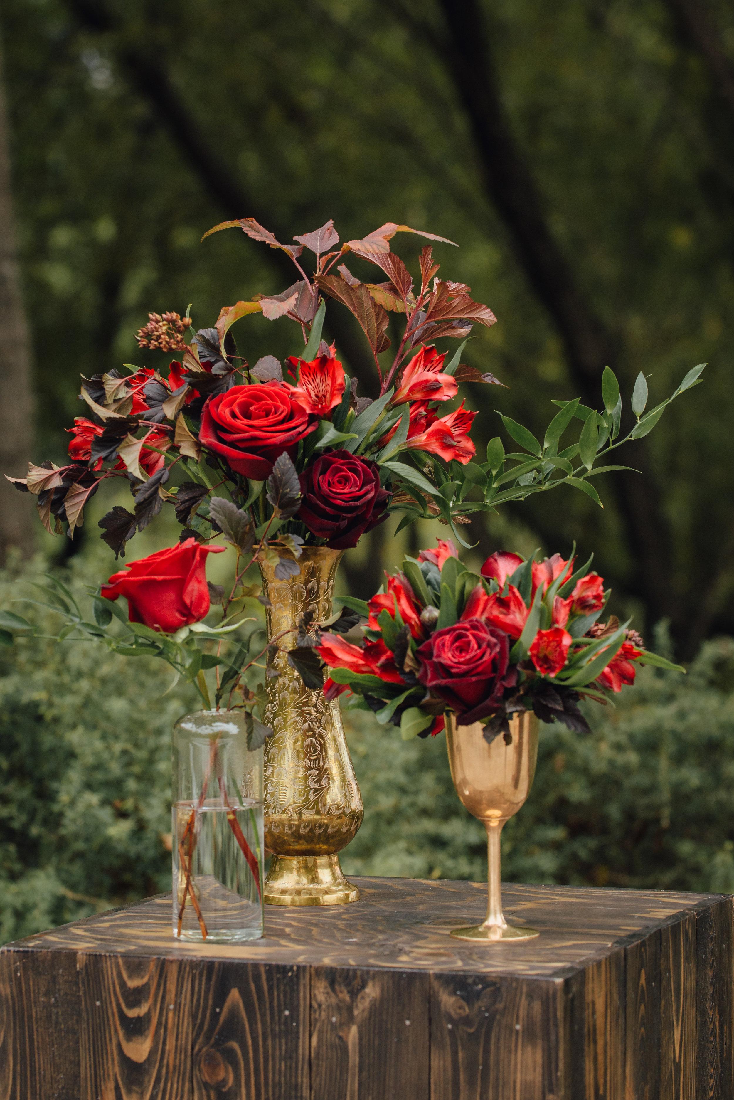 Burgundy Wedding Flowers - Wedding Florists Winnipeg