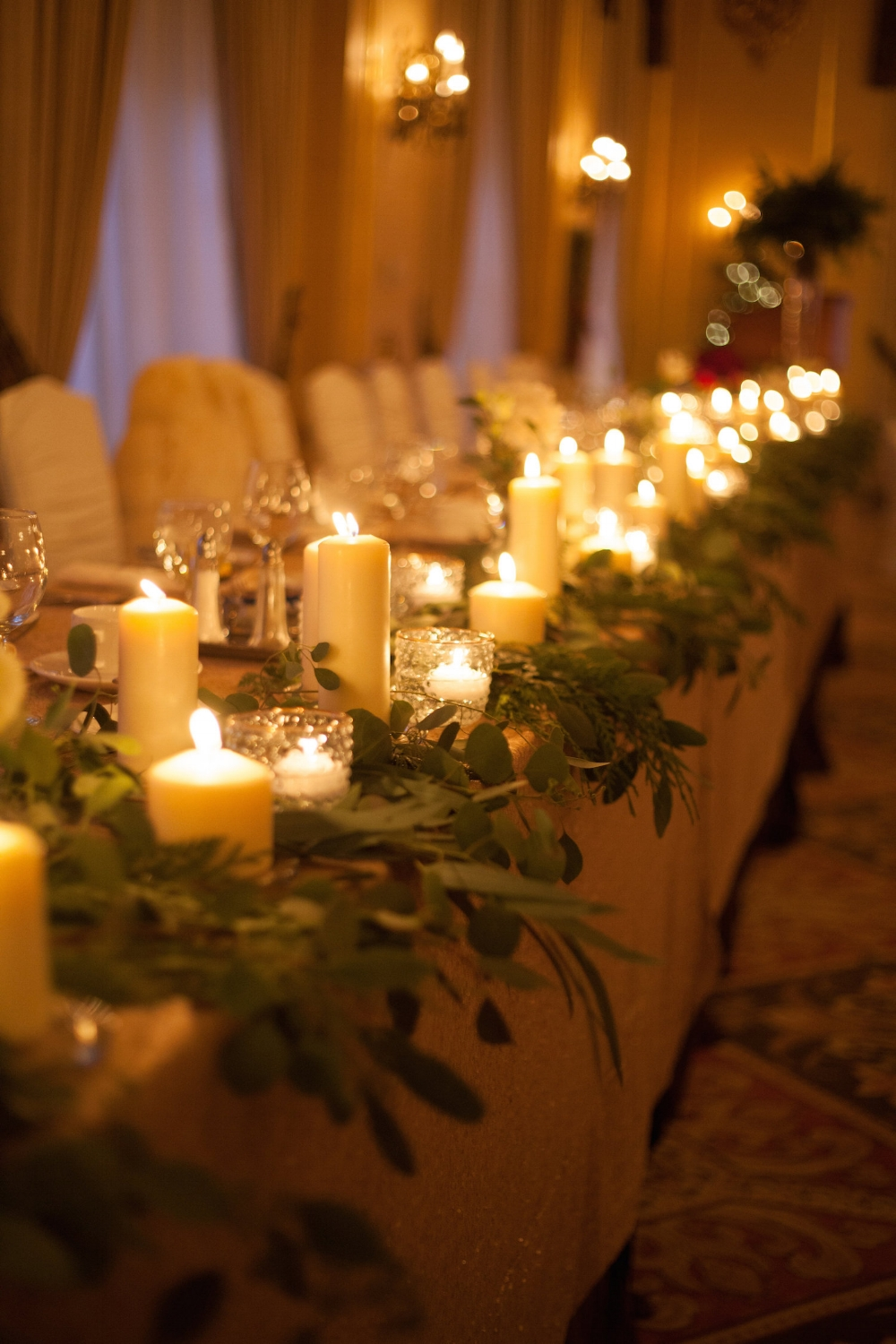 Head Table Greenery Garland - Fort Garry Hotel Wedding
