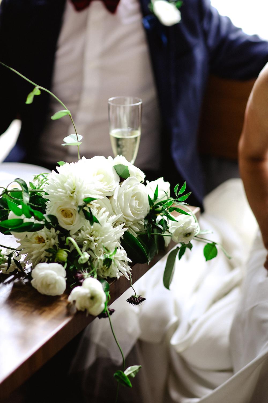 Organic White Bridal Bouquet - Wedding Flowers Winnipeg