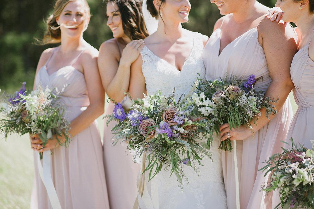 blush bridesmaid dress ideas - Winnipeg Wedding Florist