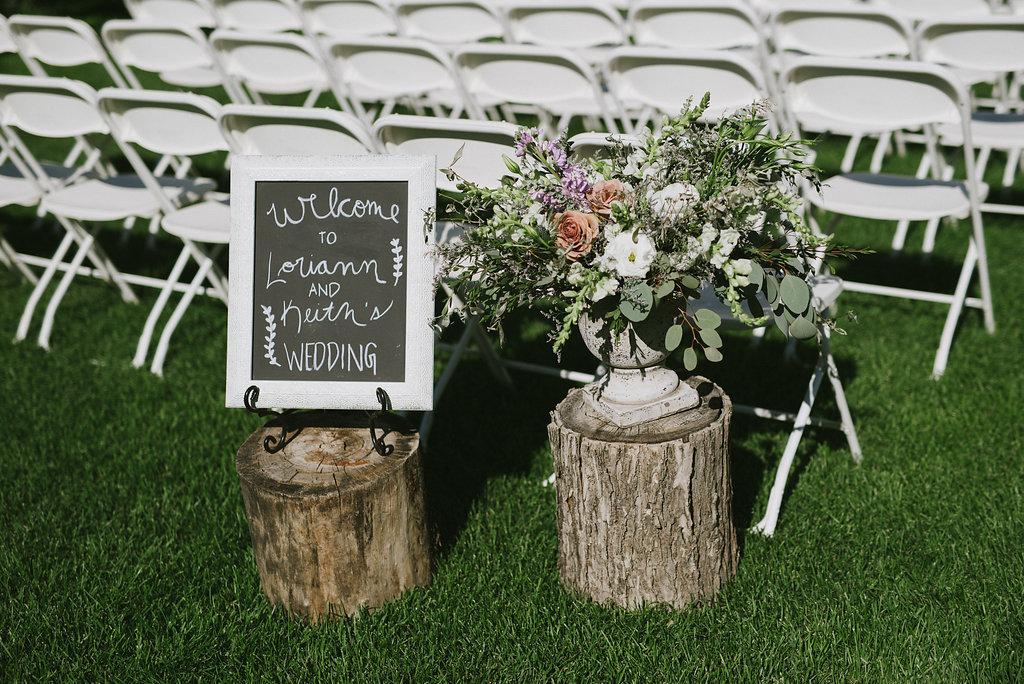 Pineridge Hollow Wedding Ceremony - Wedding Florist in Winnipeg