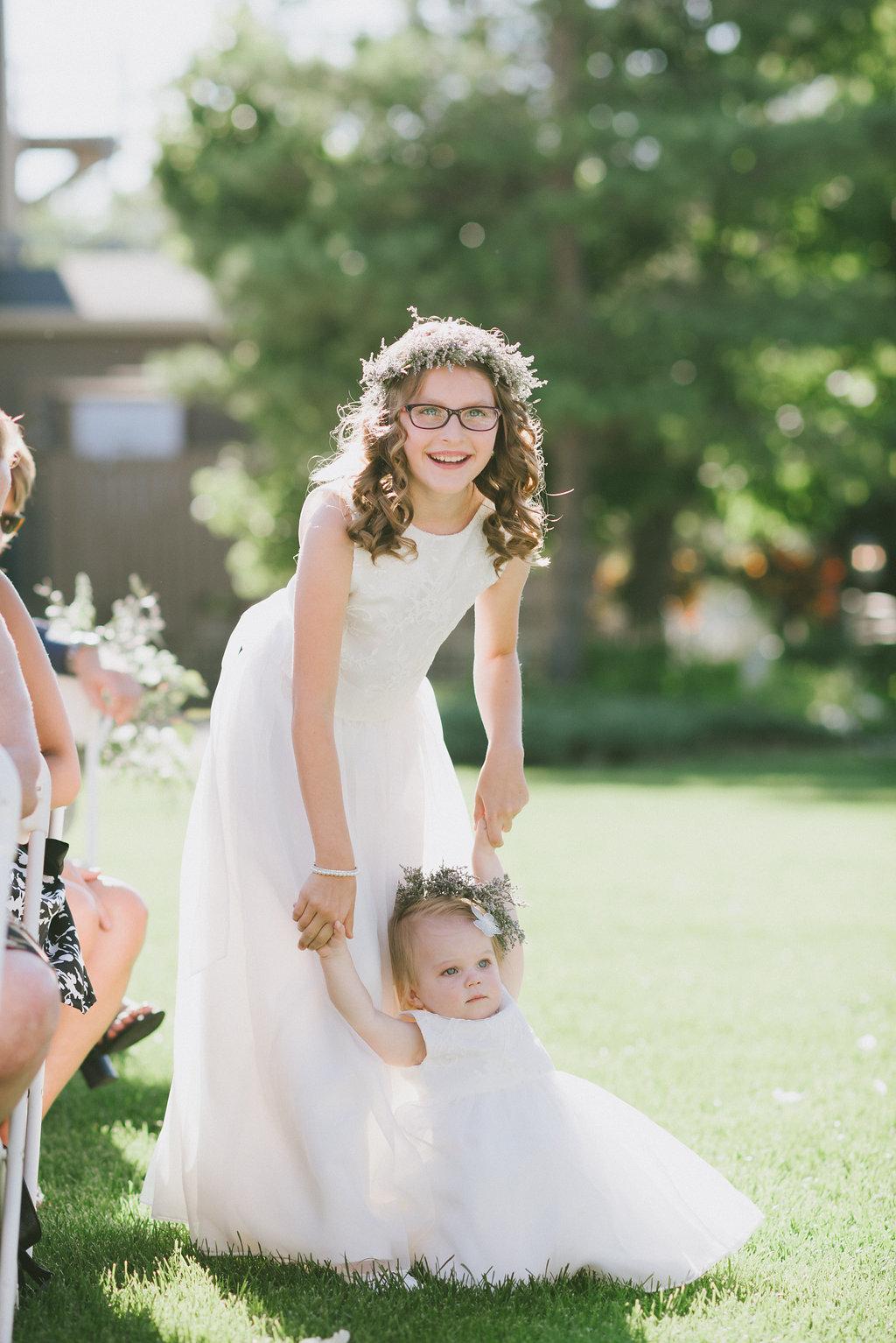 Flower Girl Flower Crowns - Wedding Flowers Winnipeg