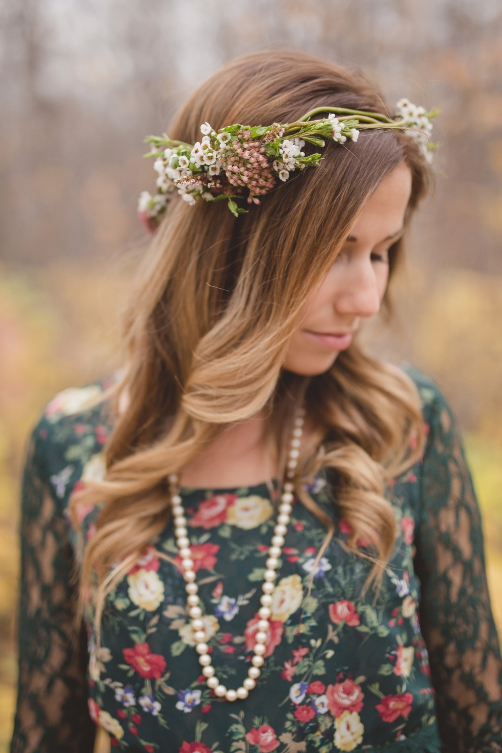 Flower Crown Engagement Session - Wedding Flowers Winnipeg