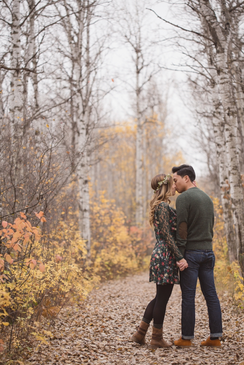 Rustic Outdoor Engagement Photos - Wedding Flowers Winnipeg