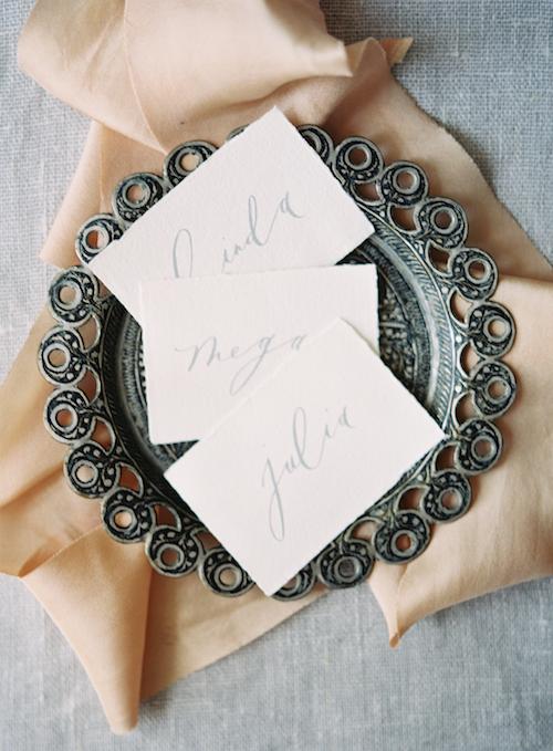 Calligraphy Escort Cards - Wedding Planning in Winnipeg