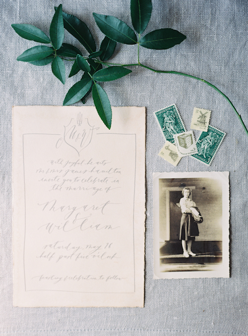 Calligraphy Wedding Invitation - Graceful Wedding Ideas