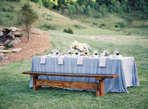 Pale Blue Wedding Ideas - Outdoor Wedding Inspiration