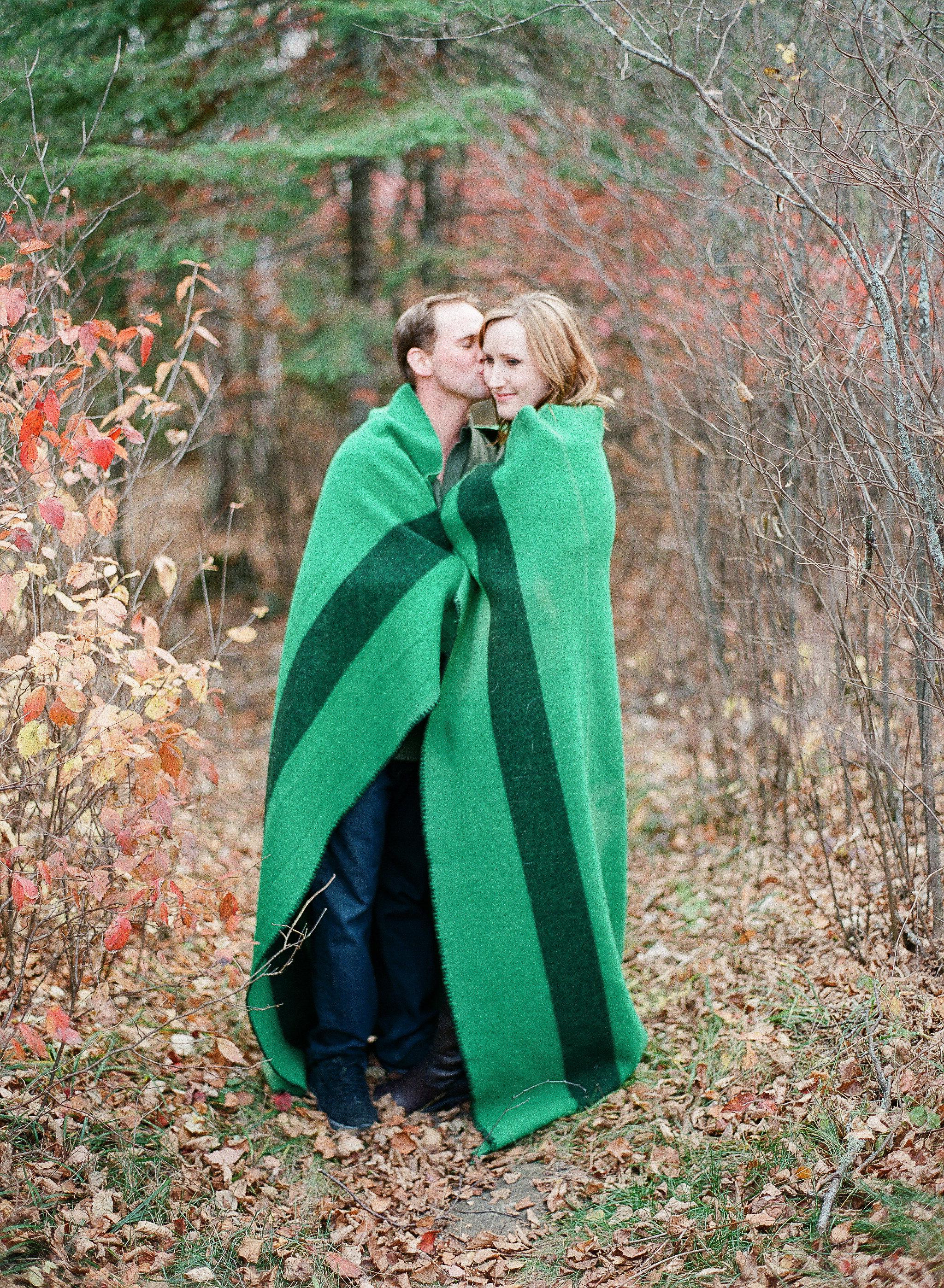 Outdoor Fall Engagement Photos - Wedding Florist in Winnipeg