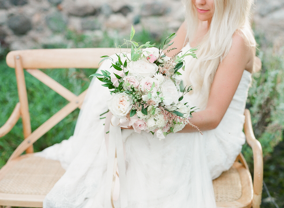 blush and white garden rose bouquet - Winnipeg Wedding Florist