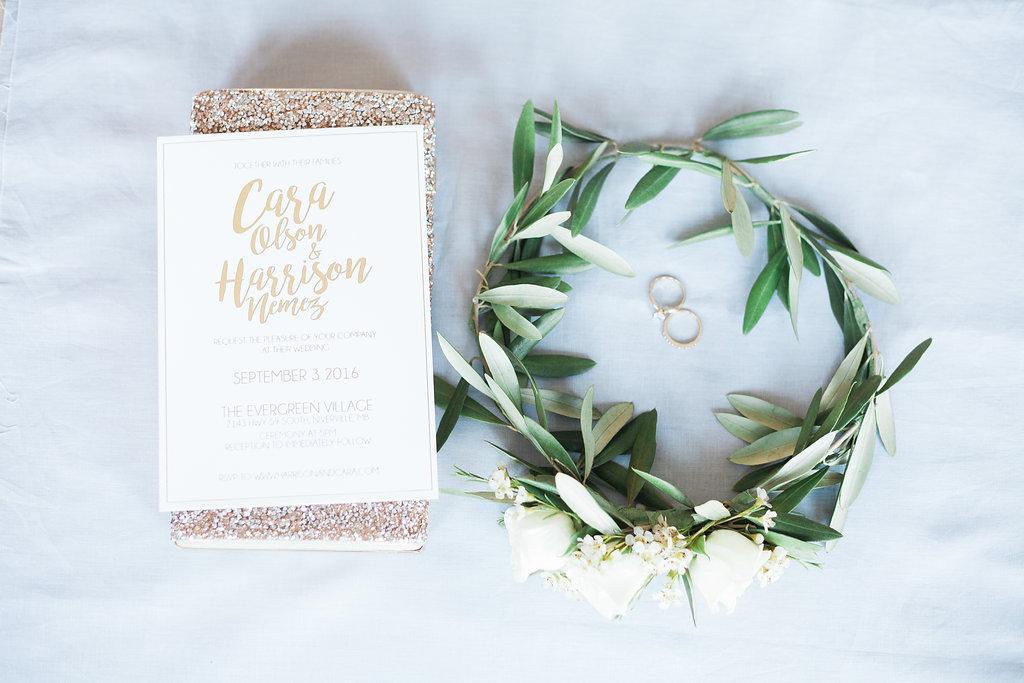 Olive Flower Crown - Garden Wedding Ideas