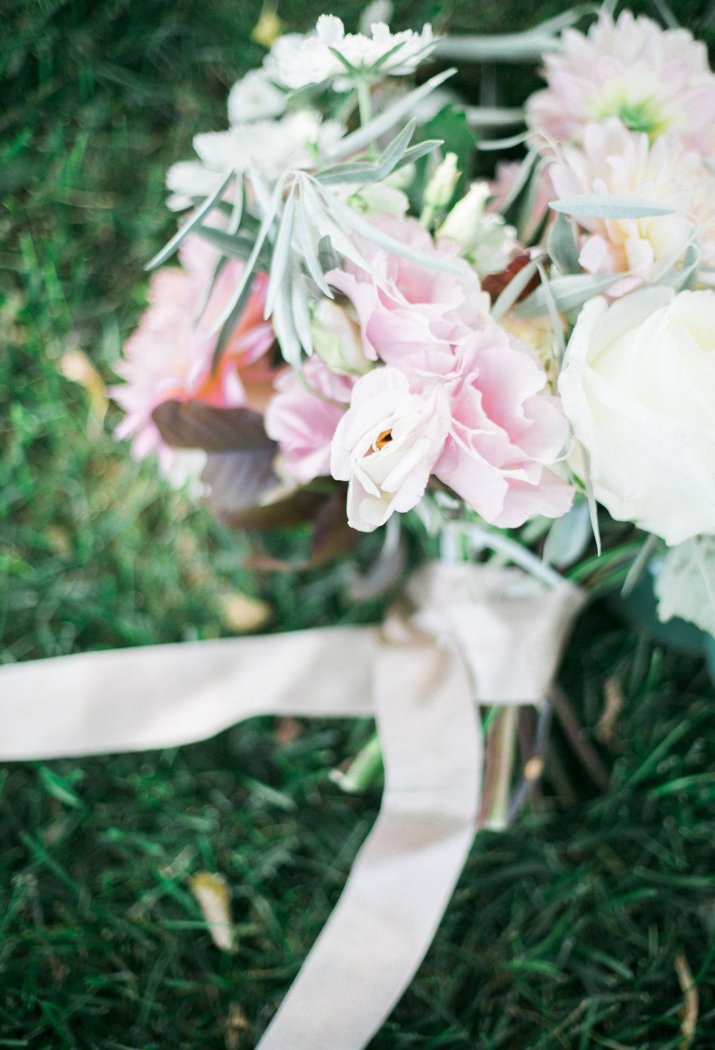 Blush and White Bridal Bouquet - Winnipeg Wedding Flowers