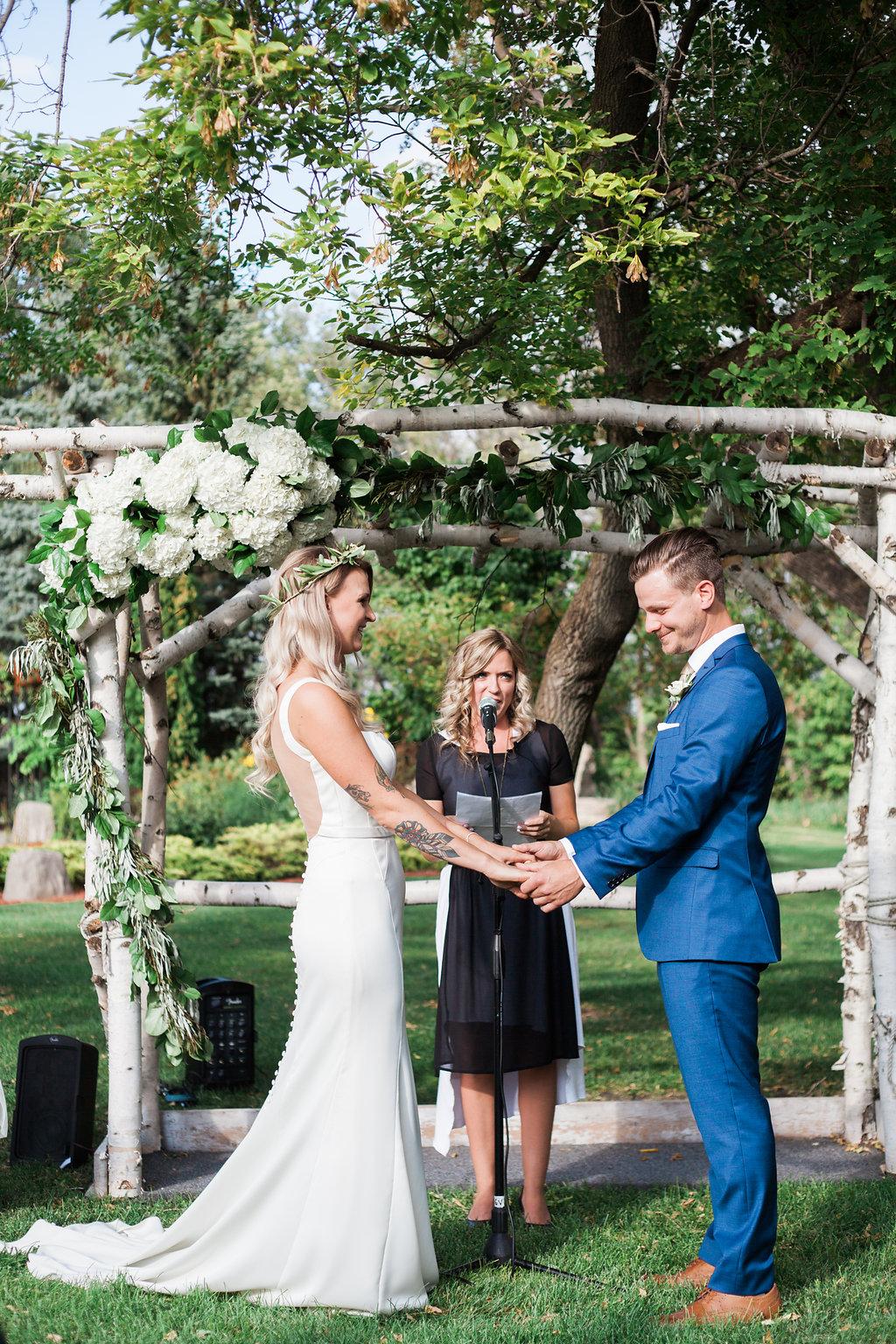 Evergreen Village Wedding - Outdoor Wedding Ceremony