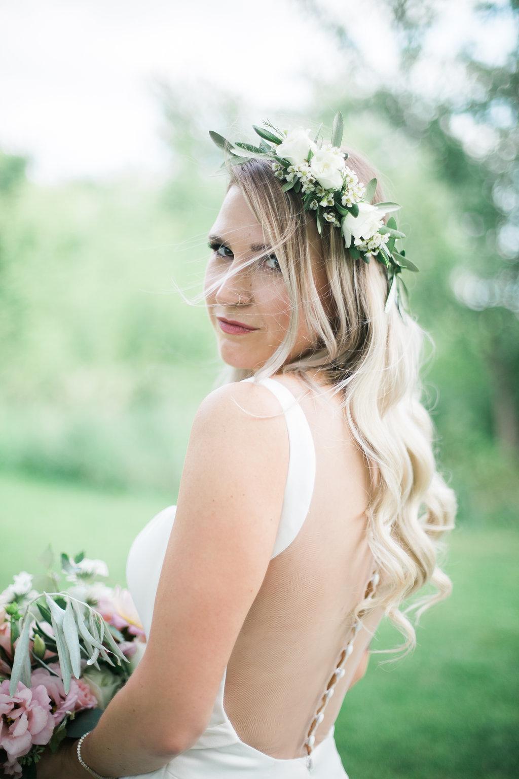 White Flower Crown - Wedding Florist in Winnipeg