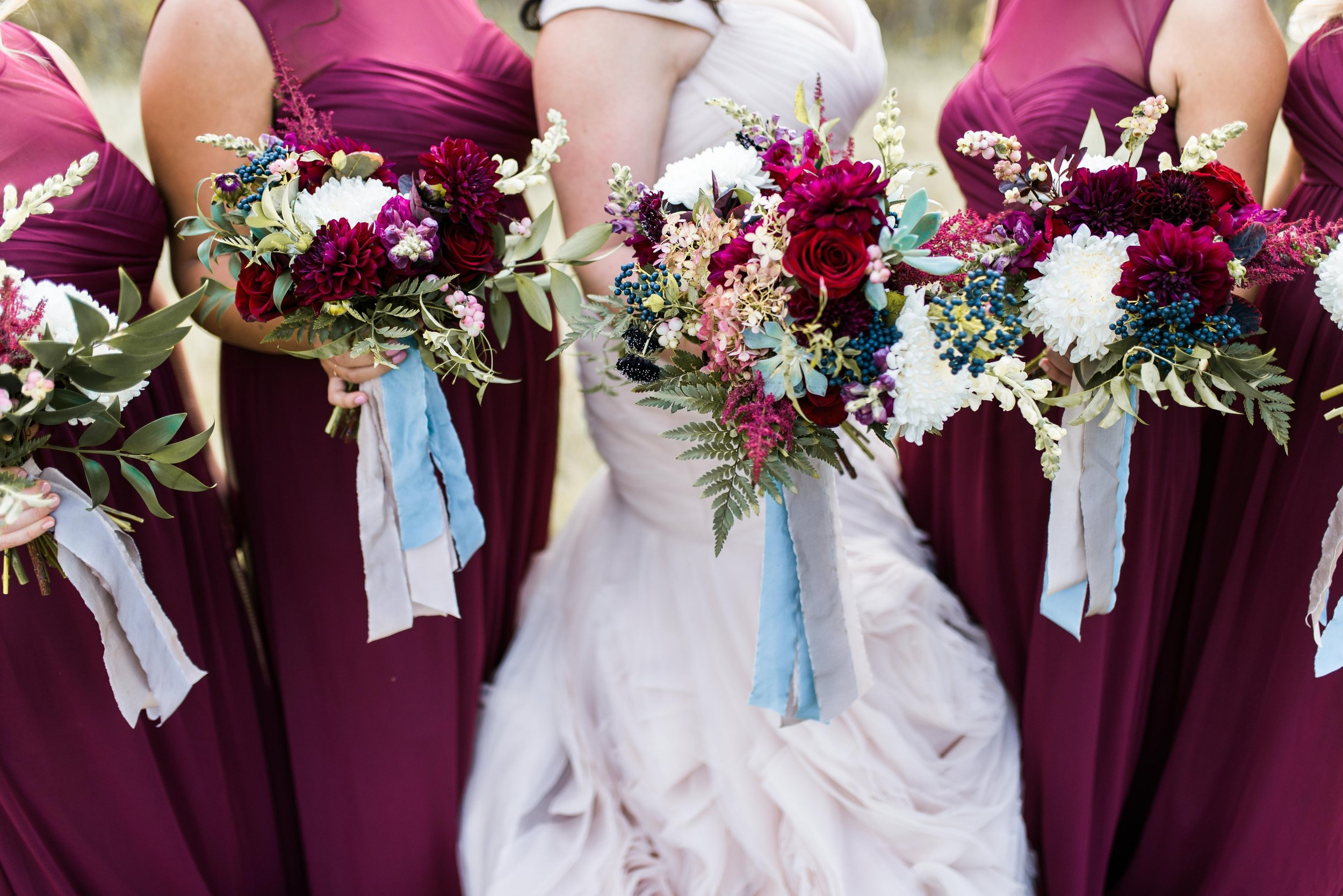 Burgundy Wedding Flowers - Winnipeg Wedding Florist