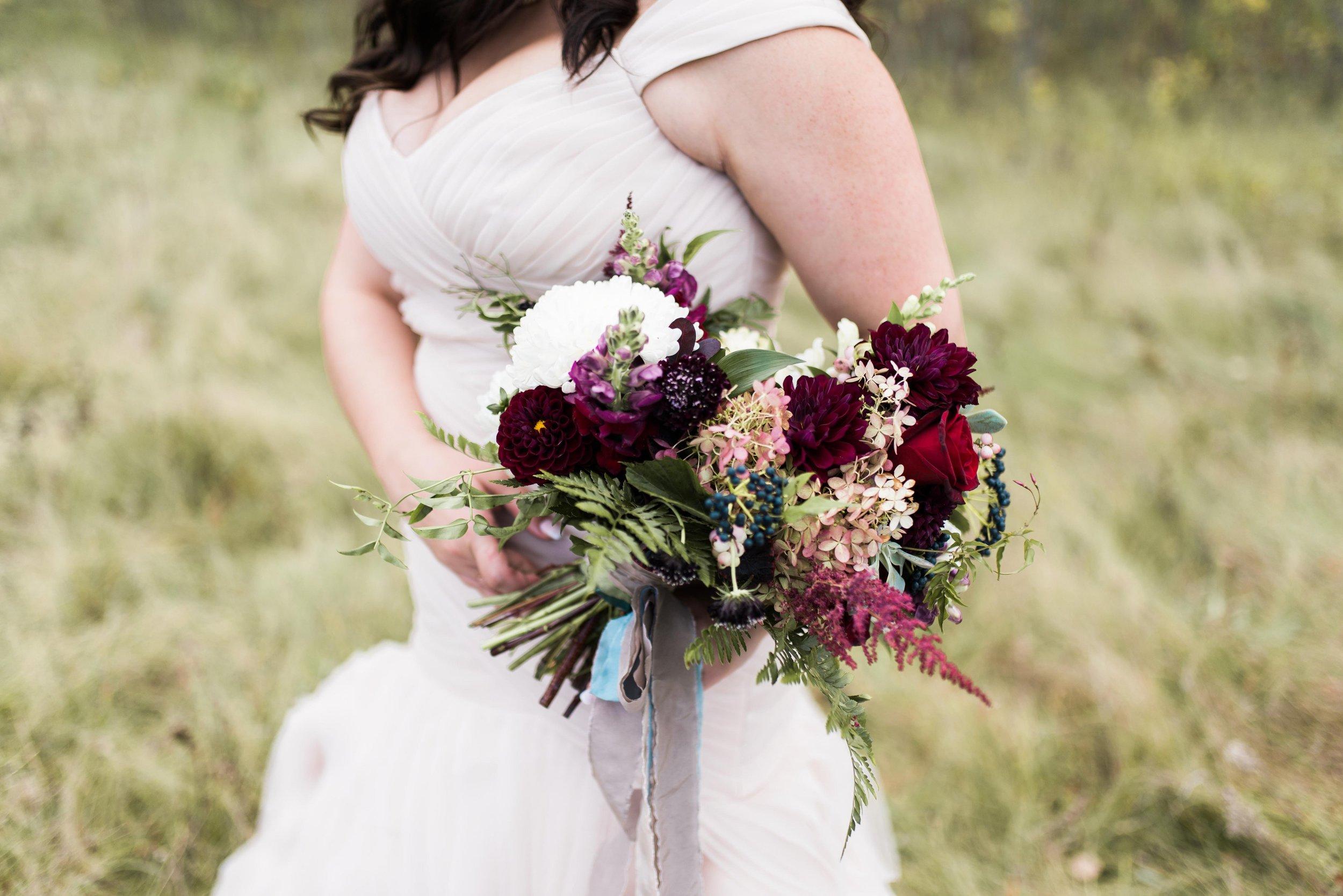 Organic Fall Wedding Bouquet - Stone House Creative