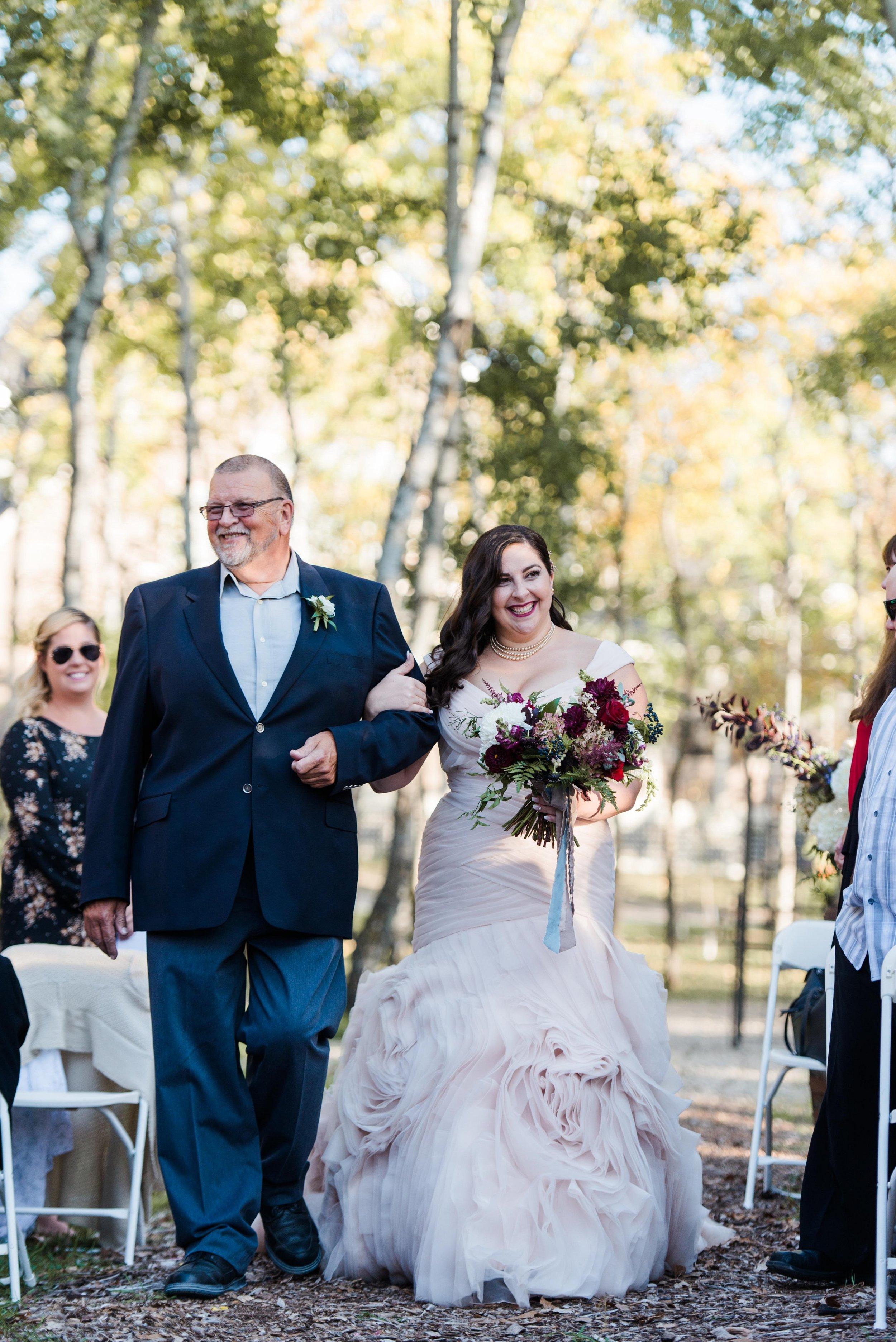 Outdoor Wedding Ceremony - Wedding Florists Winnipeg