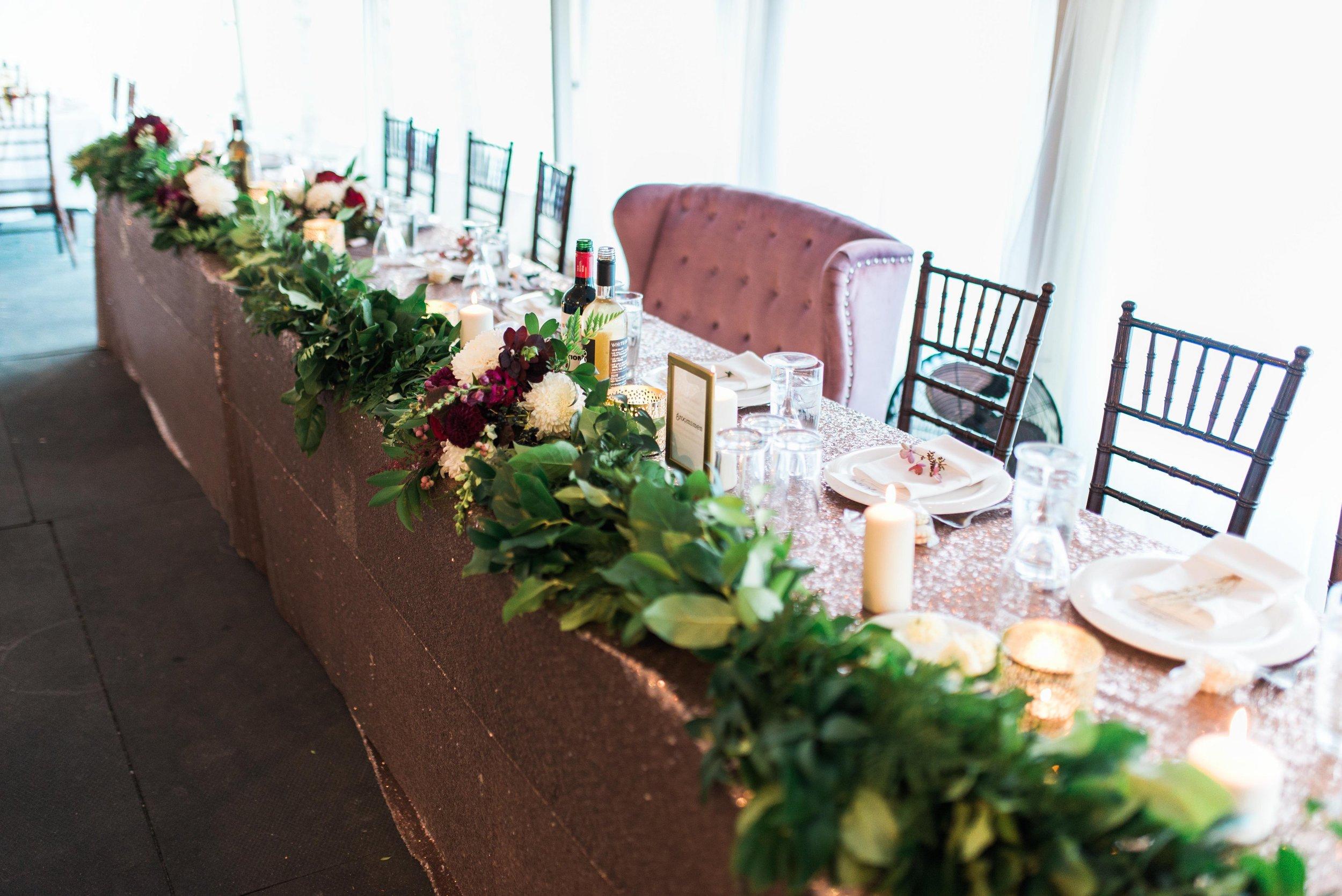 Head Table Greenery Garland - Tent Wedding Decorations