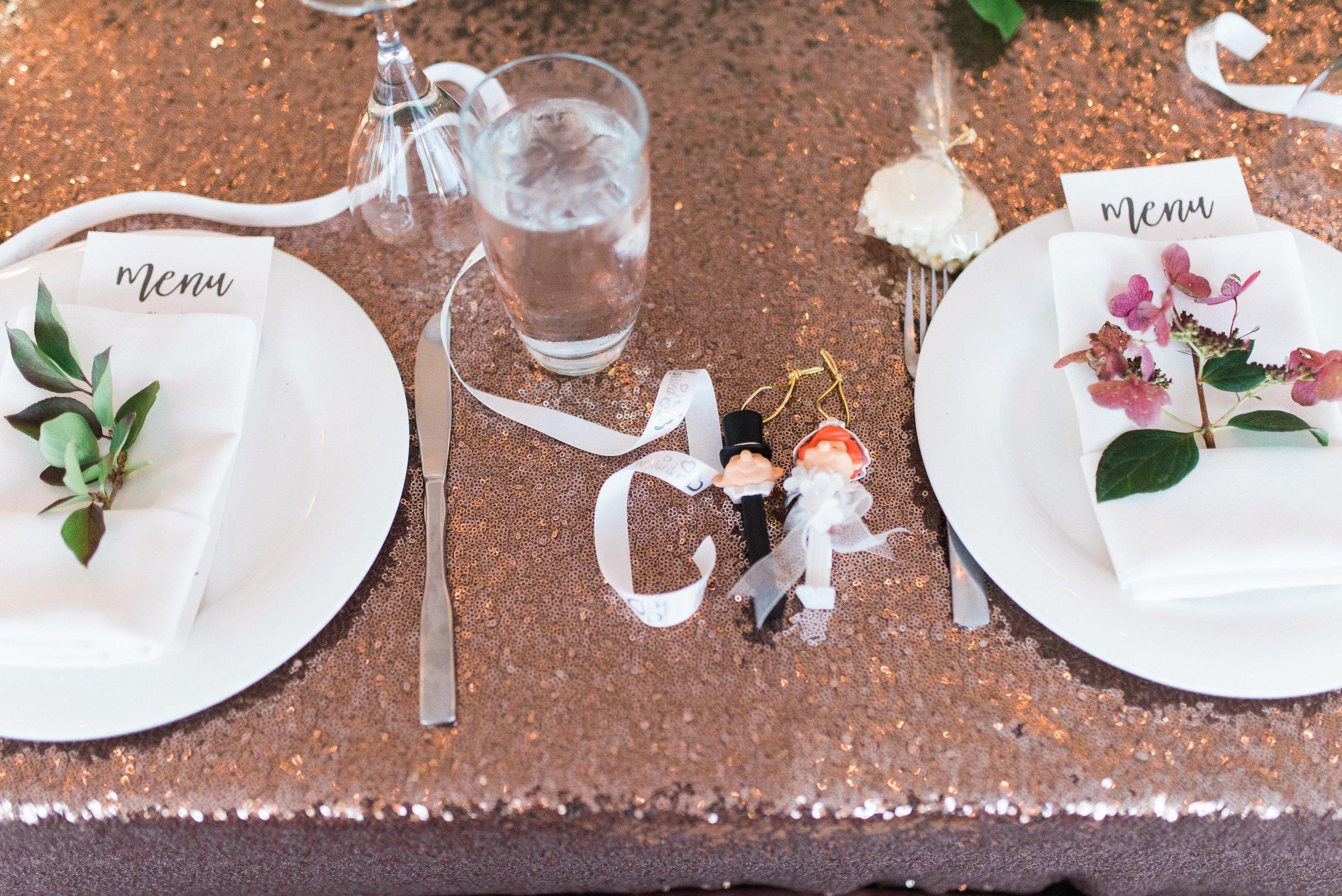 Sequin Table Linens - Fall Wedding Decor