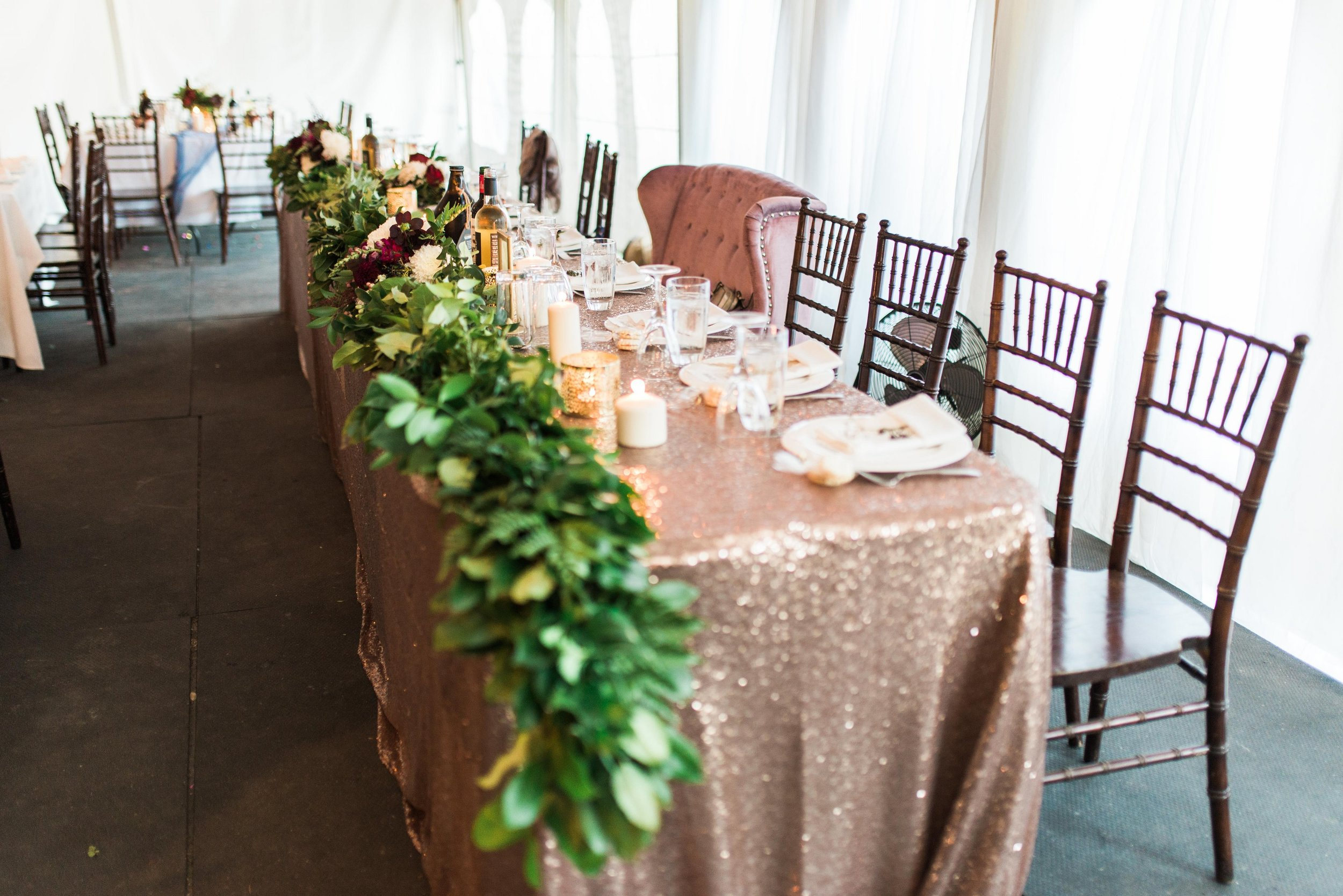 Greenery Garland - Head Table Wedding Flowers
