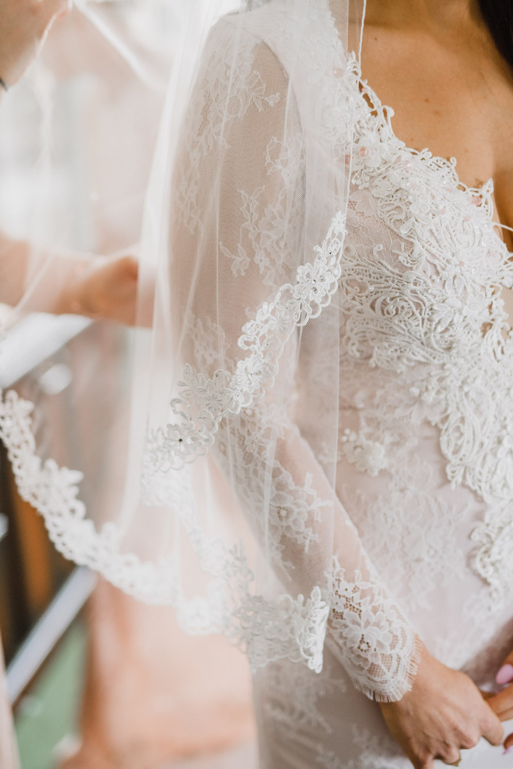 Lace Edged Bridal Veil - Weddings in Winnipeg