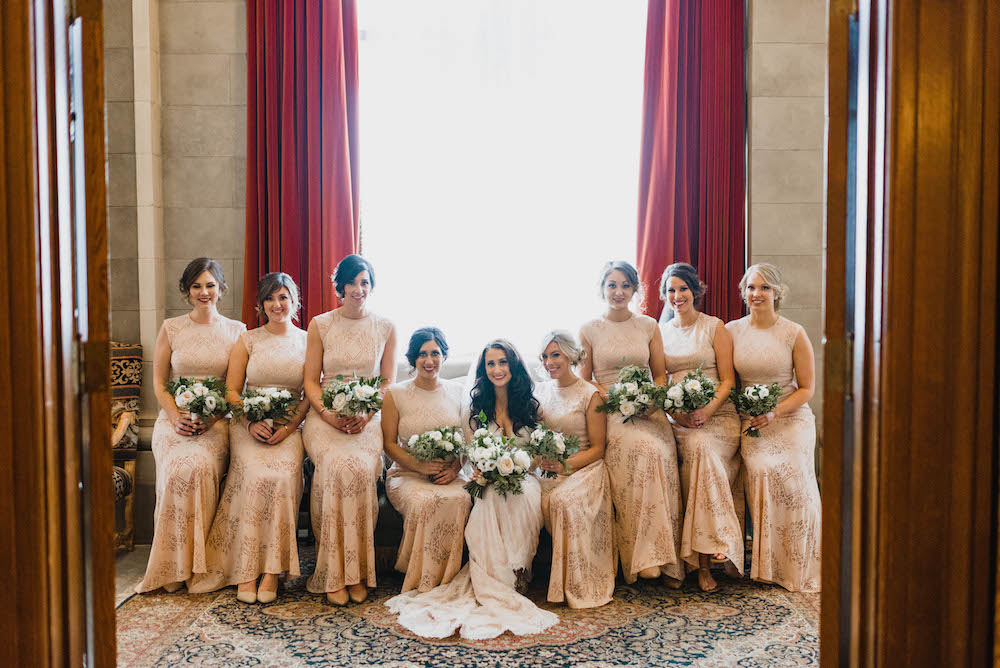 Champagne Bridesmaid Dresses - Winter Wedding in Winnipeg
