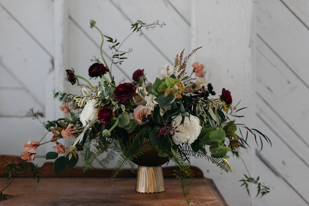 Burgundy Wedding Flowers - Winnipeg Florists
