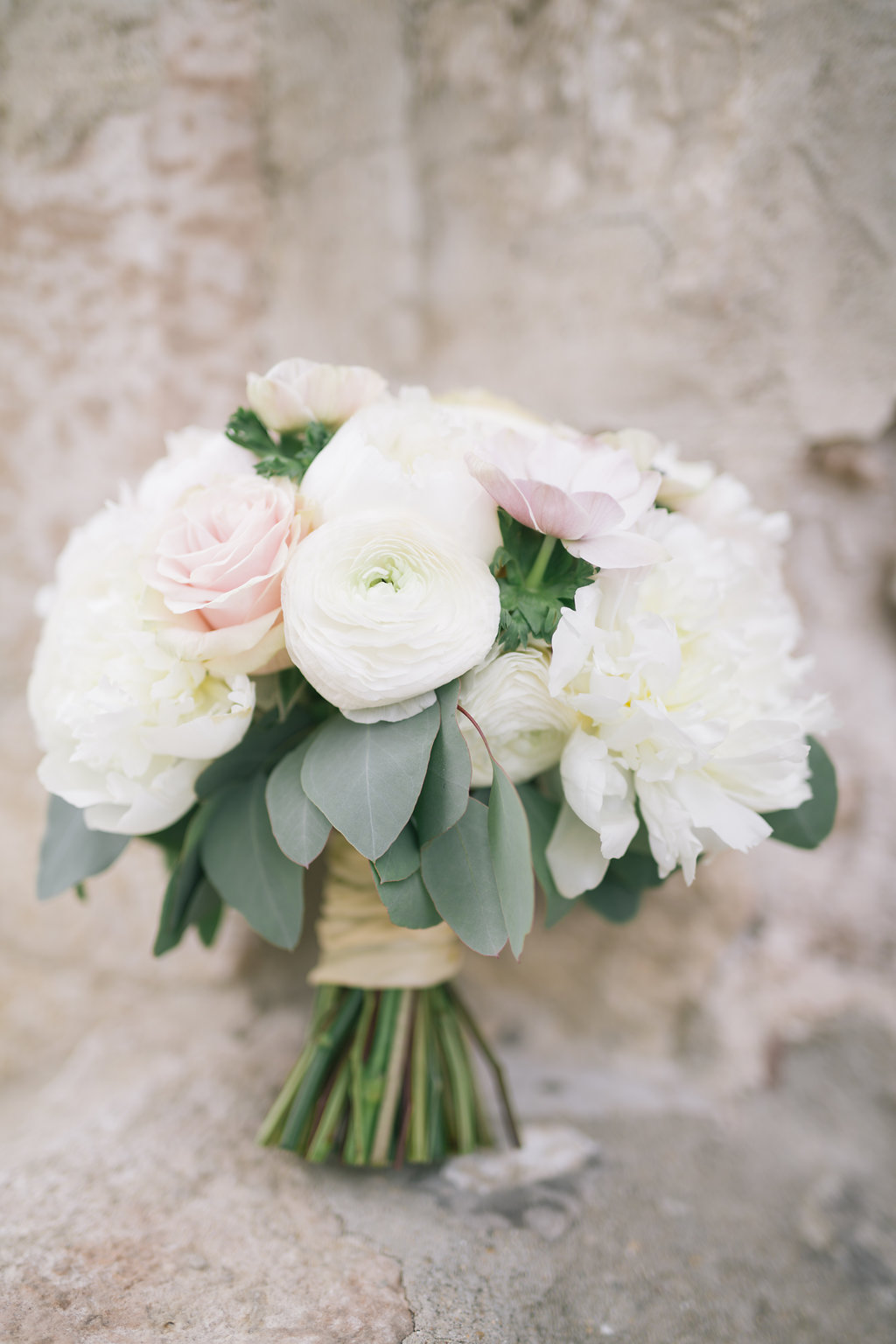 Peony and Ranunculus Bridal Bouquet - Wedding Flowers Winnipeg