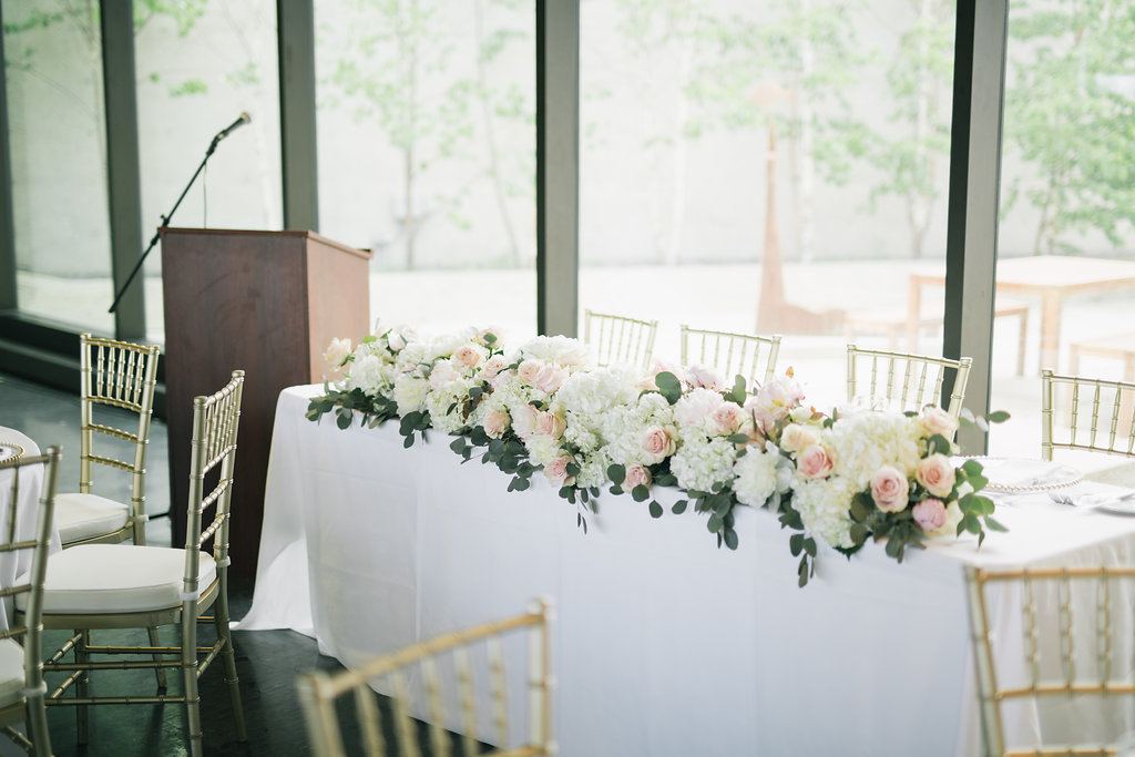 Winnipeg Art Gallery Wedding - Lush Floral Garland