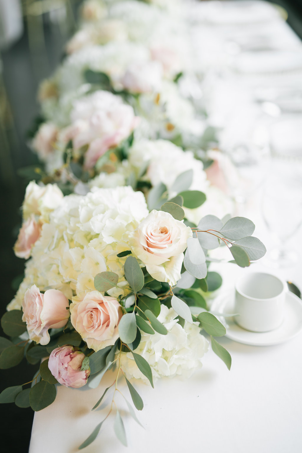 Hydrangea and Peony Garland - Wedding Flower Ideas