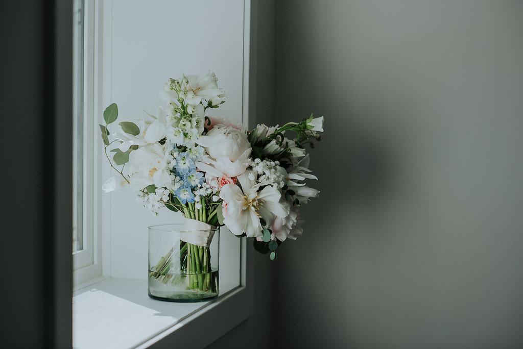 Pink and Blue Wedding Flowers - Winnipeg Wedding Florist